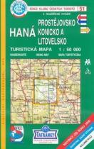 KČT 51 Haná, Prostějovsko, Konicko, Litovelsko