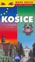 Košice, mapa mesta 1: 15 000