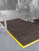 OEM Antibakteriální rohož Solidness AB FR děrovaná, modul - černá, 91 x 91 cm