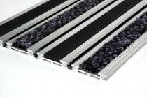 OEM Venkovní rohož s hliníkovým nájezdem Lawell - Černá, 120 x 80 cm