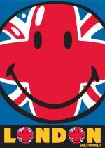 OEM Dětský koberec Smiley Union Jack 95 x 133 cm