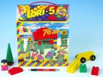 Lori Stavebnice LORI 5 plast 76ks v krabici 23x28x10cm