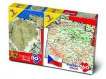 Bonaparte Puzzle Mix 80/160 dílků Mapa