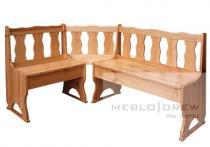 Meblo-Drew rohová lavice z masívu