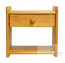 Meblo-Drew noční stolek Beata, vzor olše