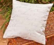 Meblo-Drew stříbrný polštářek vánoční s nápisy