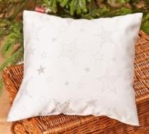 Meblo-Drew stříbrný polštářek hvězdy vánoční
