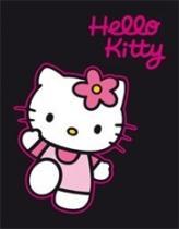 Dětská deka Hello Kitty černá