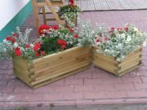BB Zahradní dřevěný květináč obdélníkový malý