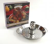 """Charcoal Companion """"Platinum"""" Wok / Vertikální stojan na grilování kuřete"""