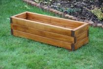 Zahradní nábytek Liška Zahradní dřevěný květináč malý s povrchovou úpravou