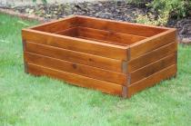 Zahradní nábytek Liška Zahradní dřevěný květináč velký bez povrchové úpravy