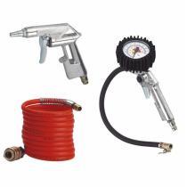 EINHELL Měření tlaku pneu,pistole,hadice spirálová Pneu nářadí 3-dílná sada