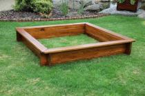 Zahradní nábytek Liška Zahradní dřevěné pískoviště bez krytu bez povrchové úpravy