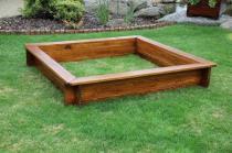 Zahradní nábytek Liška Zahradní dřevěné pískoviště bez krytu s povrchovou úpravou