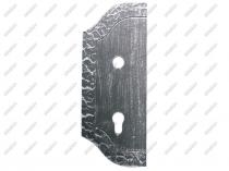 Umakov Štítek kovaný 265x105, t3, d18,5mm D1/14AL