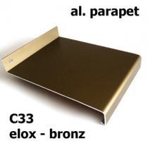 Hliníkový parapet - bronz