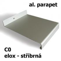 Hliníkový parapet - stříbrný