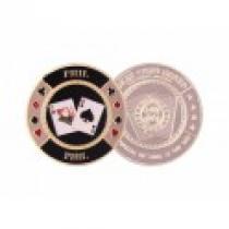 Poker guard Stříbrný ochranný žeton Q6 Phil