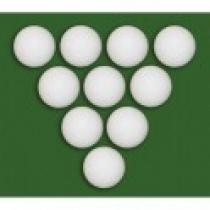 Míčky pro stolní fotbálek 10 ks bílé 35 mm