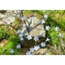 Zahradní květinový strom s 36 LED diodami a solárním panelem teple bílé LED diody
