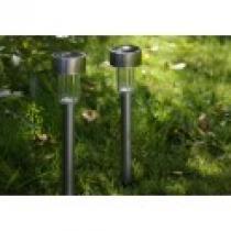 Solární LED zahradní osvětlení z nerezové oceli, 4 ks