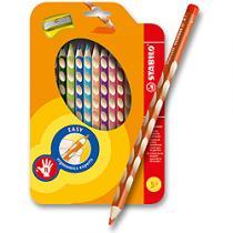 Stabilo EASYcolors - 12 barev + ořezávátko, pro praváky