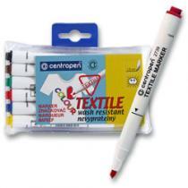 Centropen Značkovač na textil - sada 6 barev