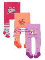 YO COMPANY Punčocháčky bavlněné - balení 3 ks pro holčičky