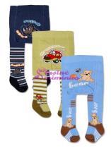 YO COMPANY Punčocháčky bavlněné - balení 3 ks pro kluky
