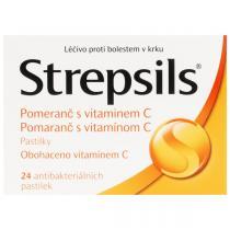 Strepsils Pomeranč s vitamínem C (24 pastilek)