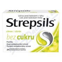 Reckitt Strepsils Citron bez cukru (24 pastilek)