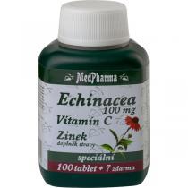 MedPharma Echinacea 100mg+vitamín C+zinek (107 tablet)