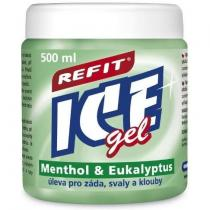 Refit Ice masážní gel s eukalyptem (500 ml) zelený