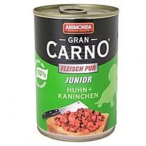 Konzerva Animonda Gran Carno Junior kuře + králík 400g