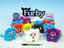 OEM Furby modrý přívěšek plyšový se zvukem