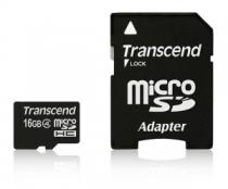 Transcend MicroSDHC 16GB Class 4