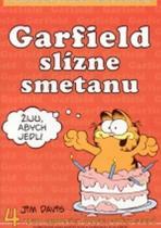 Jim Davis: Garfield slízne smetanu - 4. kniha sebraných garfieldových stripů - 3. vydání