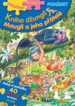 Samolepkové puzzle pohádky: Kniha džunglí, Mauglí a jeho přátelé