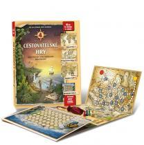4 cestovatelské hry - Leporelo her s kostkou, figurkami a žetony, pro zábavné učení zeměpisu - Lucie Ernestová leporelo