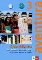Peňaranda C. Ferrer Brožová Kateřina: Aventura 3 - Španělština pro SŠ a JŠ- učebnice + PS + 2CD