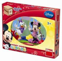 Mickeyho klubík - Dřevěné kostky 12 ks - Walt Disney