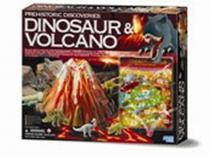 Prehistorické objevy - Dinosaur a vulkán