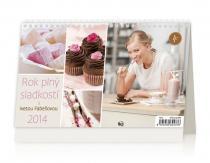 Kalendář 2014 - Rok plný sladkostí s Ivetou Fabešovou - stolní