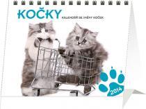 Kalendář 2014 - Kočky se jmény koček Praktik - stolní