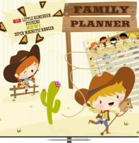 Kalendář poznámkový plánovací - Cowboys - nedatovaný, 30 x 60 cm