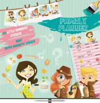 Kalendář poznámkový plánovací - Boys & Girls - nedatovaný, 30 x 60 cm