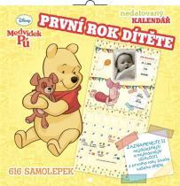 Kalendář - W. Disney Medvídek Pú - první rok dítěte - nedatovaný