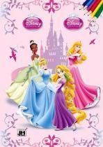 Disney princezny-omalovánky A4