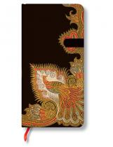 Paperblanks Zápisník - Swirling Peacock Ebony Slim, slim 90x180